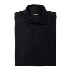 Black Spread Collar Shirt