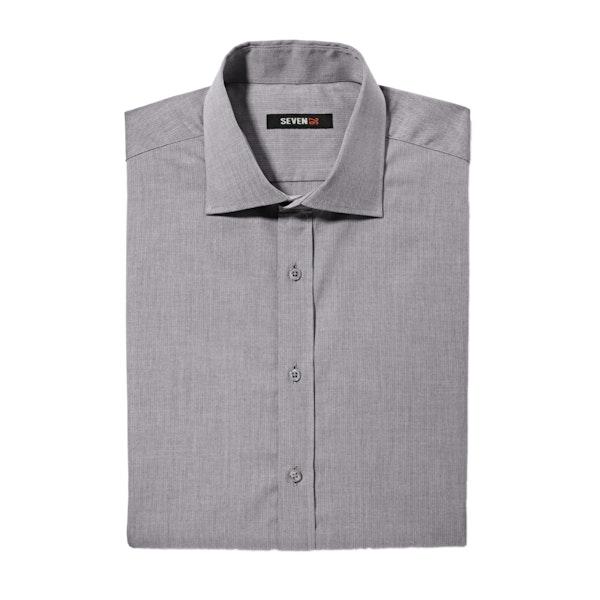 Gray Spread Collar Shirt