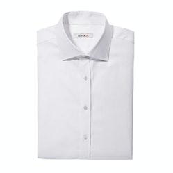 Twill White Spread Collar Shirt