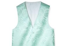 Mint Paisley Vest