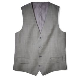 Gray Sharkskin Suit Vest