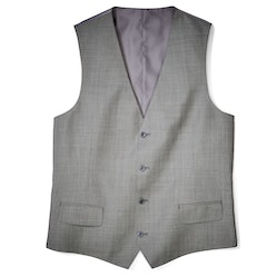 Gray Sharkskin Tailored Suit Vest