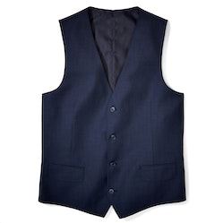 Navy Blue Tailored Suit Vest
