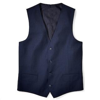 Navy Blue Tailored Suit Vest