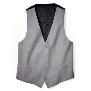 Light Gray Tailored Tux Vest