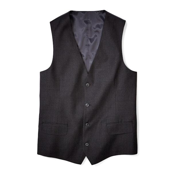 Charcoal Gray Tailored Suit Vest