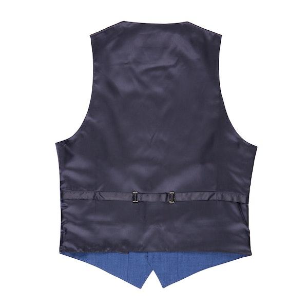 Mystic Blue Edge Lapel Suit Vest