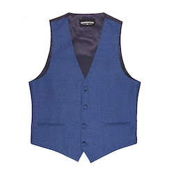 Mystic Blue Edge Lapel Suit Vest
