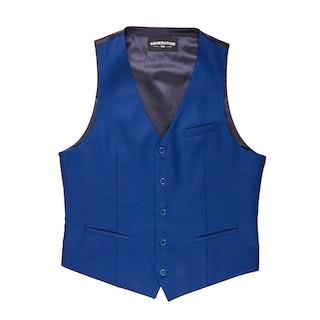 Bright Blue Tailored Suit Vest