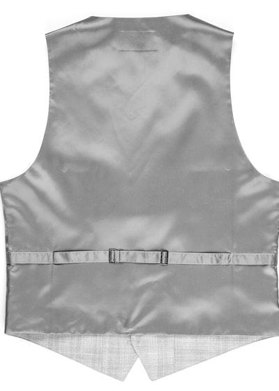 Light Gray Plaid Suit Vest