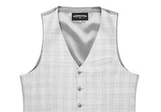 Light Gray Plaid Suit Vest