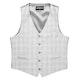 Light Gray Plaid Tailored Suit Vest