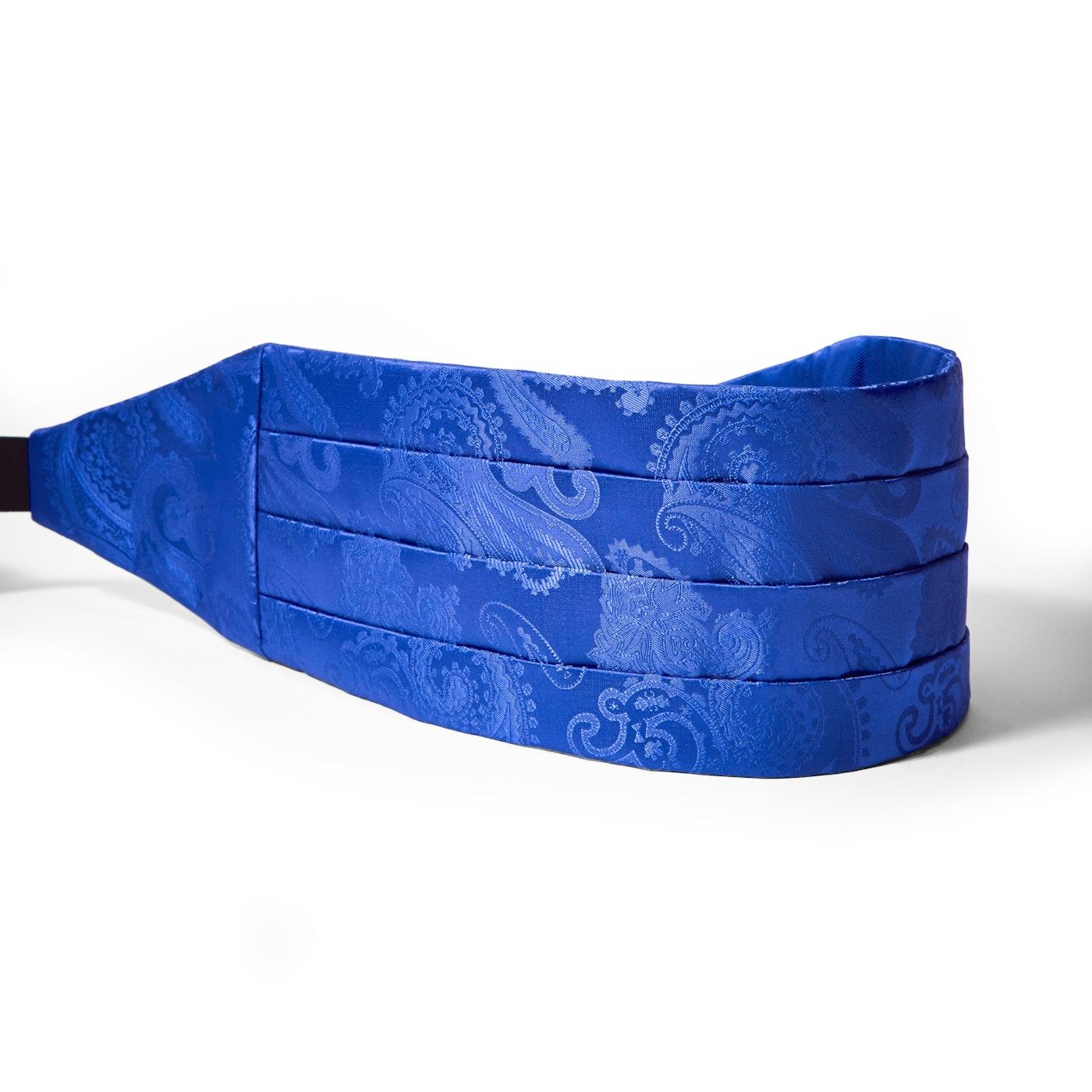 Royal Blue Paisley Cummerbund