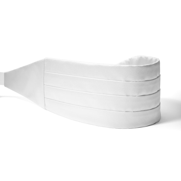 White Cummerbund