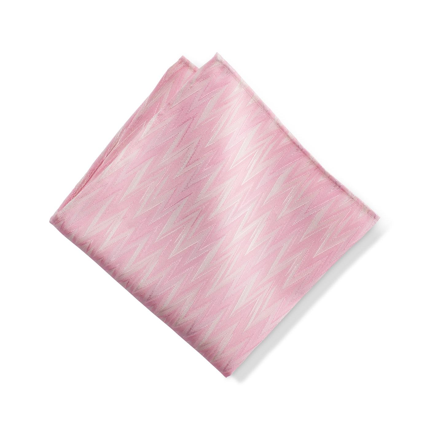 Pink Zig Zag Pocket Square