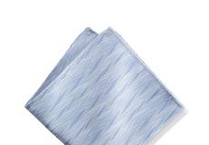 Ice Blue Zig Zag Pocket Square