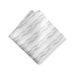 White Zig Zag Pocket Square