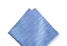 Cornflower Blue Zig Zag Pocket Square