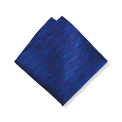 Royal Blue Zig Zag Pocket Square