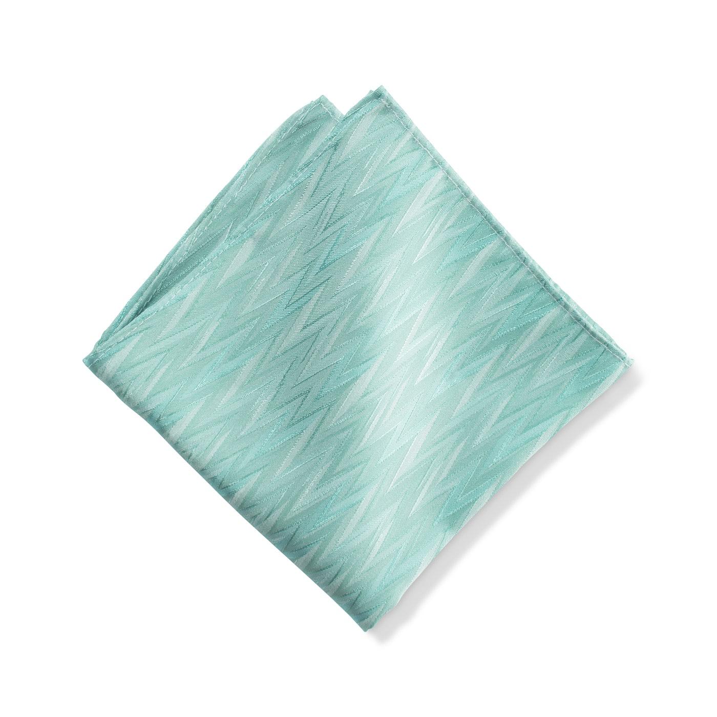 Tiffany Blue Zig Zag Pocket Square