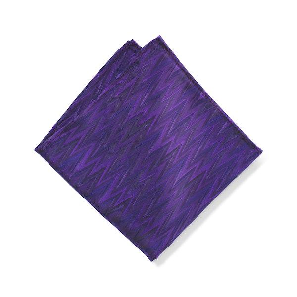 Zig Zag Viola Pocket Square