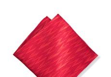 Ruby Valentino Zig Zag Pocket Square