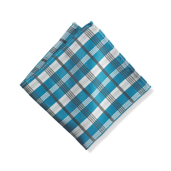 Pacific Plaid Pocket Square