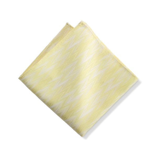Canary Zig Zag Pocket Square