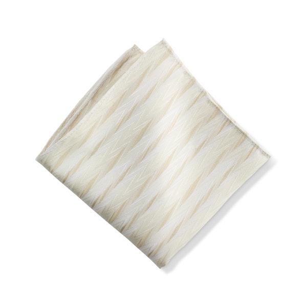 Ivory Zig Zag Pocket Square