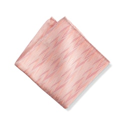 Blush Zig Zag Pocket Square