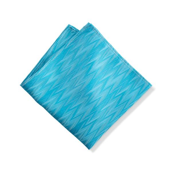 Aqua Zig Zag Pocket Square