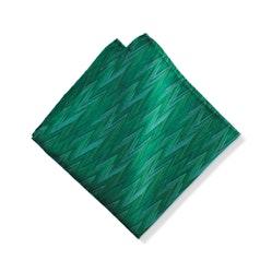 Emerald Zig Zag Pocket Square