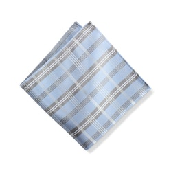 Ice Blue Plaid Pocket Square