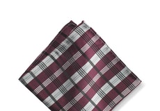 Sangria Plaid Pocket Square