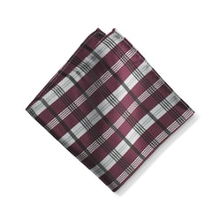 Wine Plaid Pocket Square