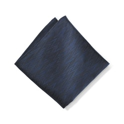 Dark Navy Zig Zag Pocket Square