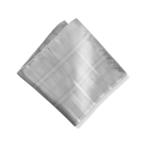 Platinum Plaid Pocket Square