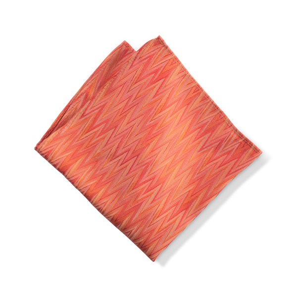 Jalapeno Zig Zag Pocket Square