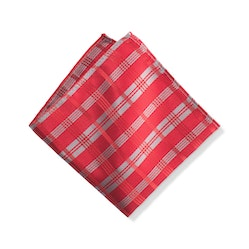 Ruby Plaid Pocket Square