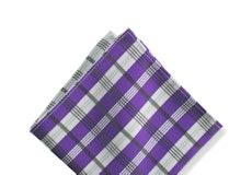 Viola Plaid Pocket Square