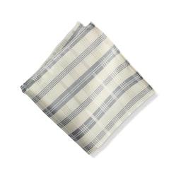Ivory Plaid Pocket Square