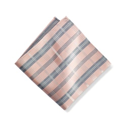 Blush Plaid Pocket Square
