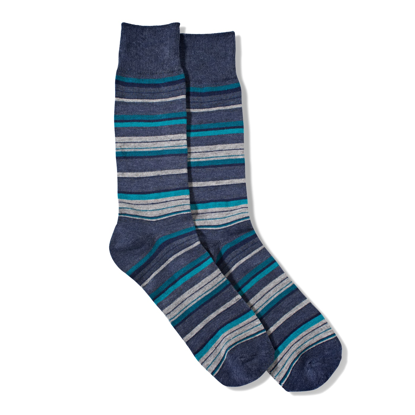 Blue Micro Stripe Socks