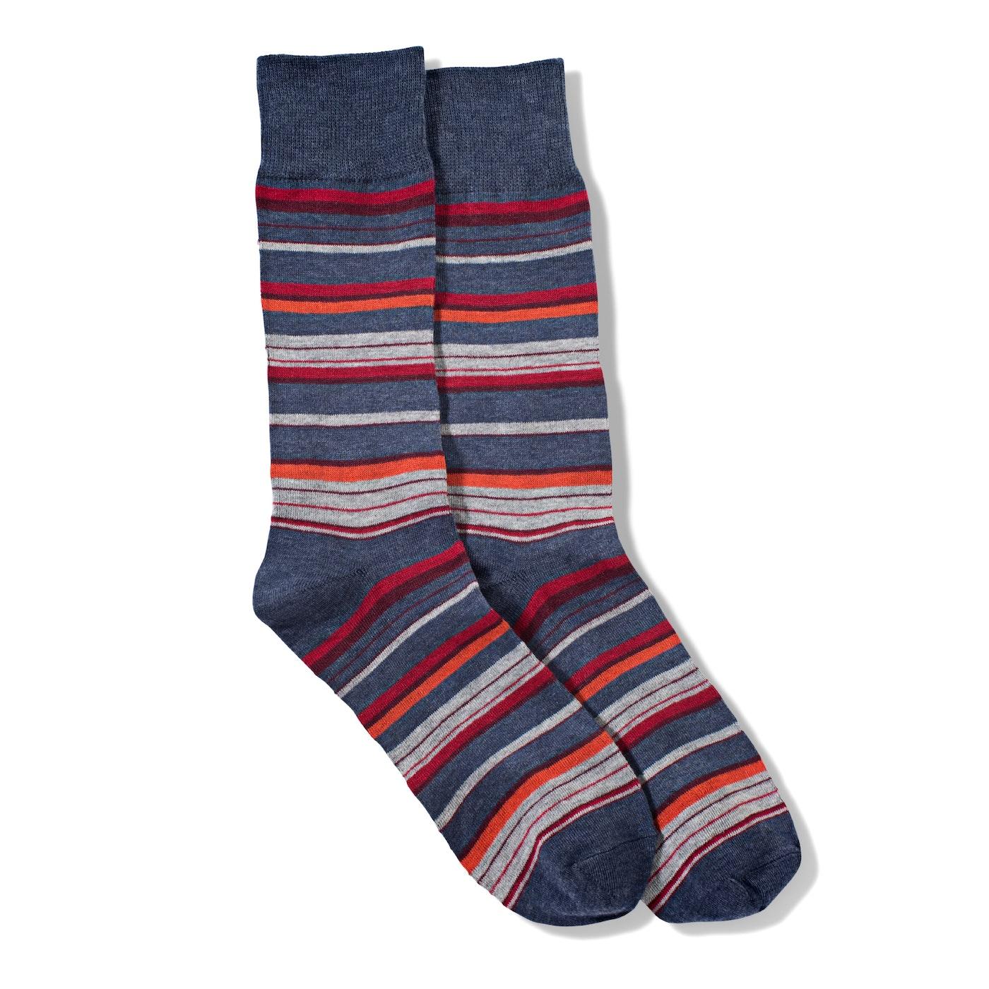 Red Micro Stripe Socks
