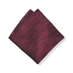 Wine Zig Zag Pocket Square