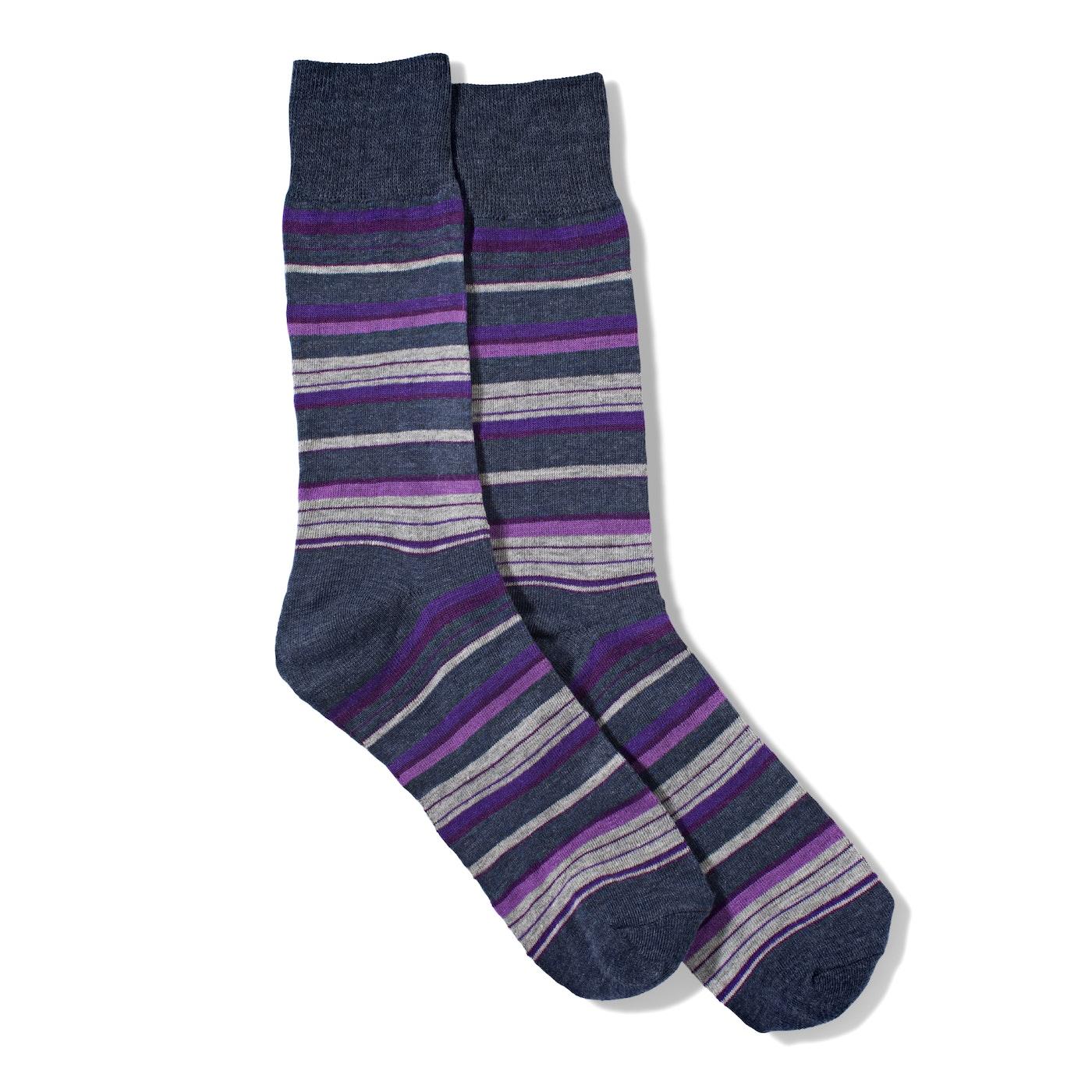 Purple Micro Stripe Socks