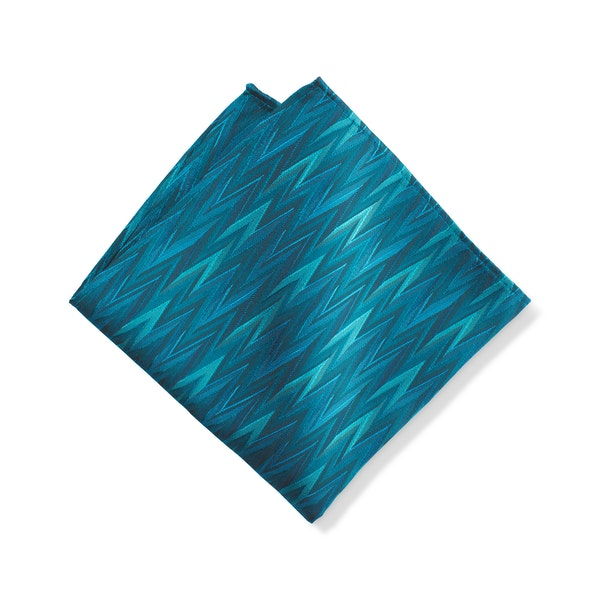 Pacific Zig Zag Pocket Square
