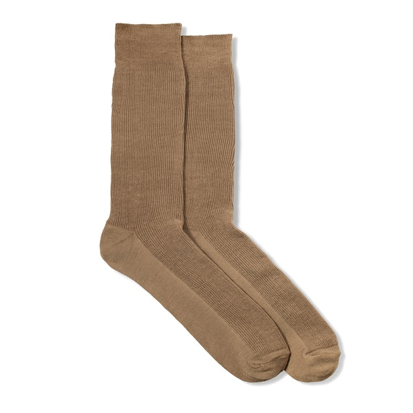 Tan Formal Socks
