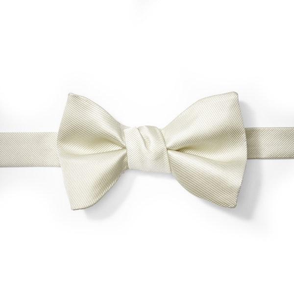 Ivory Pre-Tied Bow Tie