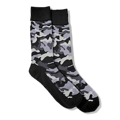 Gray Camo Socks